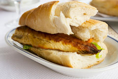 Fish burger Stock Images