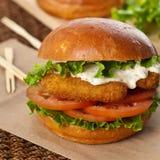 Fish burger Royalty Free Stock Photos