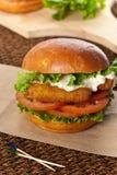 Fish burger Royalty Free Stock Photography