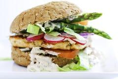 Fish burger Stock Photo