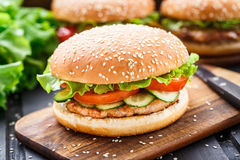 Fish burger Stock Image