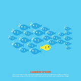 Fish for business. Web icon illustration design vector sign symbol Stock Photos