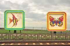 Fish and Butterfly illuminations, Blackpool Stock Photos