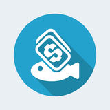 Fish buy icon. Vector illustration of single isolated fish buy icon Royalty Free Stock Image