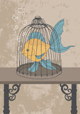 Fish in Cage. Fish confined in the cage Stock Photography