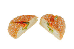 Fish cake bread Royalty Free Stock Photography