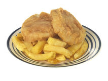 Fish Cake and Chips Royalty Free Stock Images