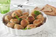 Fish cakes. Homemade fish cakes, selective focus Royalty Free Stock Image