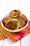 Fish cakes in a bowl Royalty Free Stock Image