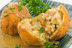 Fish cakes with salmon 2 Royalty Free Stock Image