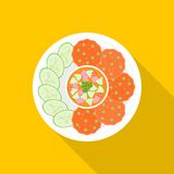 Fish cakes. Thai food, flat design Stock Image