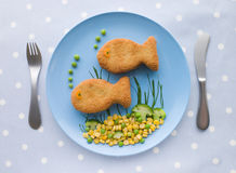 Fish Cakes with Vegetables Royalty Free Stock Photo