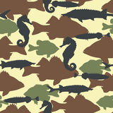 Fish camouflage seamless pattern Stock Photography