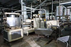 Fish canning factory Royalty Free Stock Photos