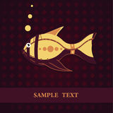 Fish card template Royalty Free Stock Images