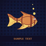 Fish card template Stock Photography