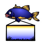 Fish carp. In white background. Computer graphics Stock Photography
