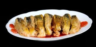Fish carp stuffed Royalty Free Stock Images