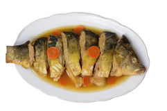 Fish carp stuffed Royalty Free Stock Images