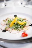 Fish carpaccio Royalty Free Stock Photography