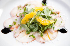 Fish carpaccio Royalty Free Stock Photo