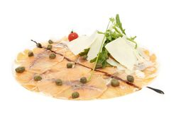 Fish carpaccio Stock Image