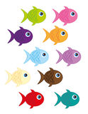 Fish cartoon Stock Photos