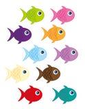 Fish cartoon. Cute fish cartoon isolated over white background. vector Stock Photos