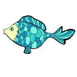 Fish cartoon a blue cute. Vector illustration. Fish cartoon a blue cute  Vector illustration Stock Photo