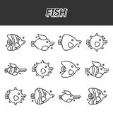 Fish cartoon concept icons. Vector illustration, EPS 10 Royalty Free Stock Photography