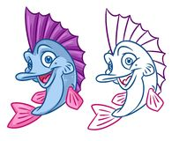 Fish cartoon Illustrations. Fish  cartoon Illustrations isolated image animal character Royalty Free Stock Photo