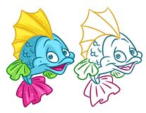 Fish cartoon Illustrations. Fish  cartoon Illustrations isolated image animal character Stock Image