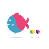 Fish cartoon set art illustration. Fish cartoon art illustration in colorful Stock Images