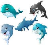 Fish cartoon set collection Stock Photography