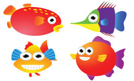 Fish cartoon set Royalty Free Stock Photography