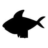Fish cartoon silhouette icon image. Vector illustration design Stock Photos