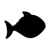 Fish cartoon silhouette icon image. Vector illustration design Stock Photography