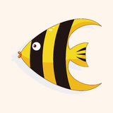 Fish cartoon theme elements vector,eps Stock Photography