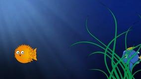 Fish cartoon underwater cute. Video of fish cartoon underwater cute stock footage