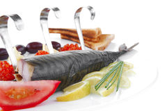 Fish and caviar Stock Images