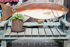 Fish and chair. The chair of the fish Royalty Free Stock Photo