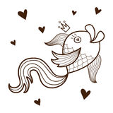 Fish character. Royalty Free Stock Photo