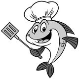Fish Chef Illustration. A vector illustration of a Fish Chef Royalty Free Stock Photos