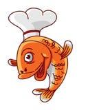 Fish chef Stock Image