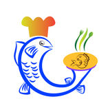 Fish chef. Vector drawing isolated in white background Royalty Free Stock Photos