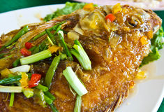 Fish Chili sauce. Food Thailand Royalty Free Stock Photography