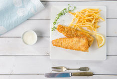 Fish and chip meal Royalty Free Stock Photos