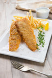 Fish and chip meal Royalty Free Stock Image