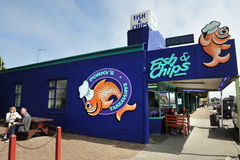 Fish and Chip Shop in New Zealand Stock Image