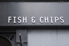 Fish and Chip Sign Royalty Free Stock Image